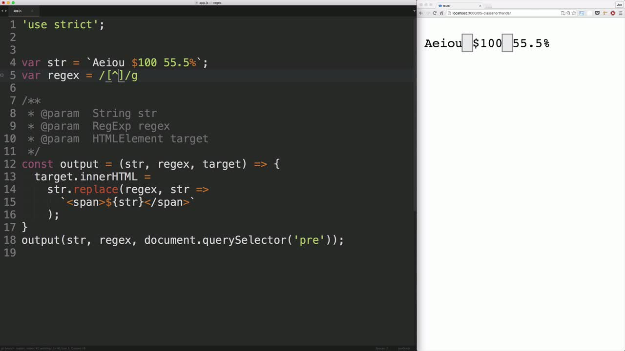 javascript tutorial about Use Shorthand Regular Expression Character Classes