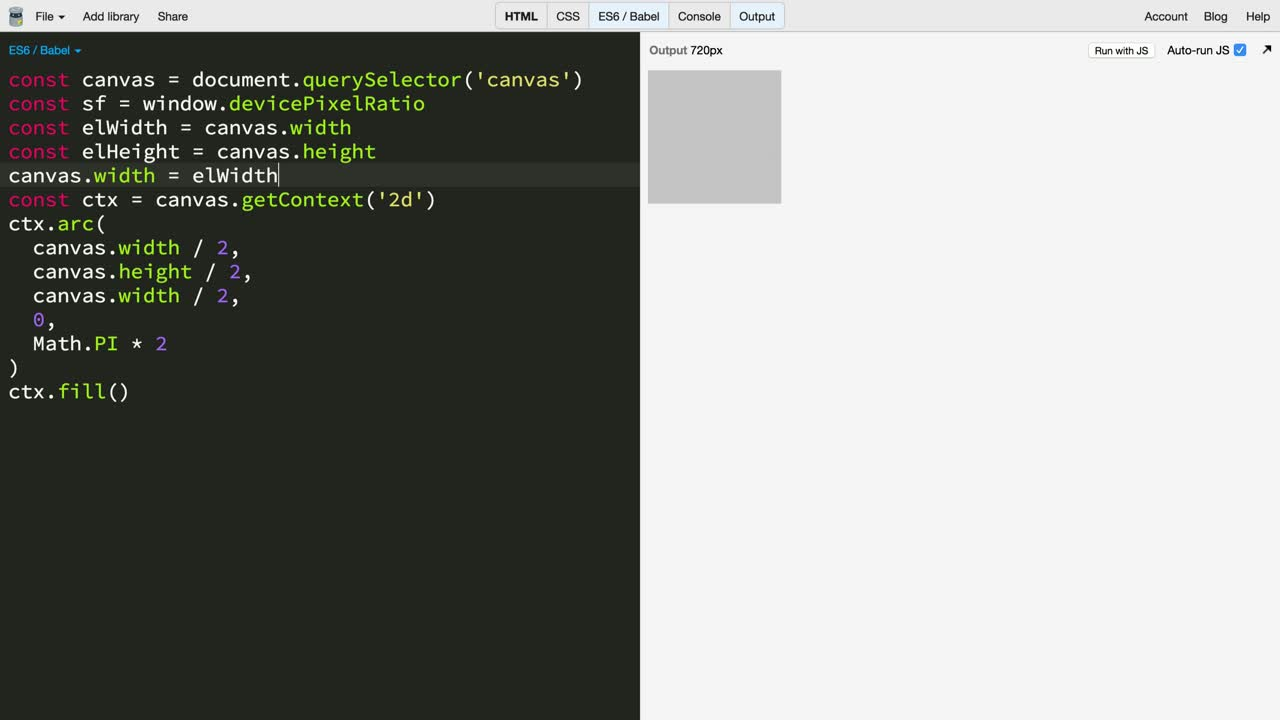 js tutorial about Make Canvas Responsive to Pixel Ratio