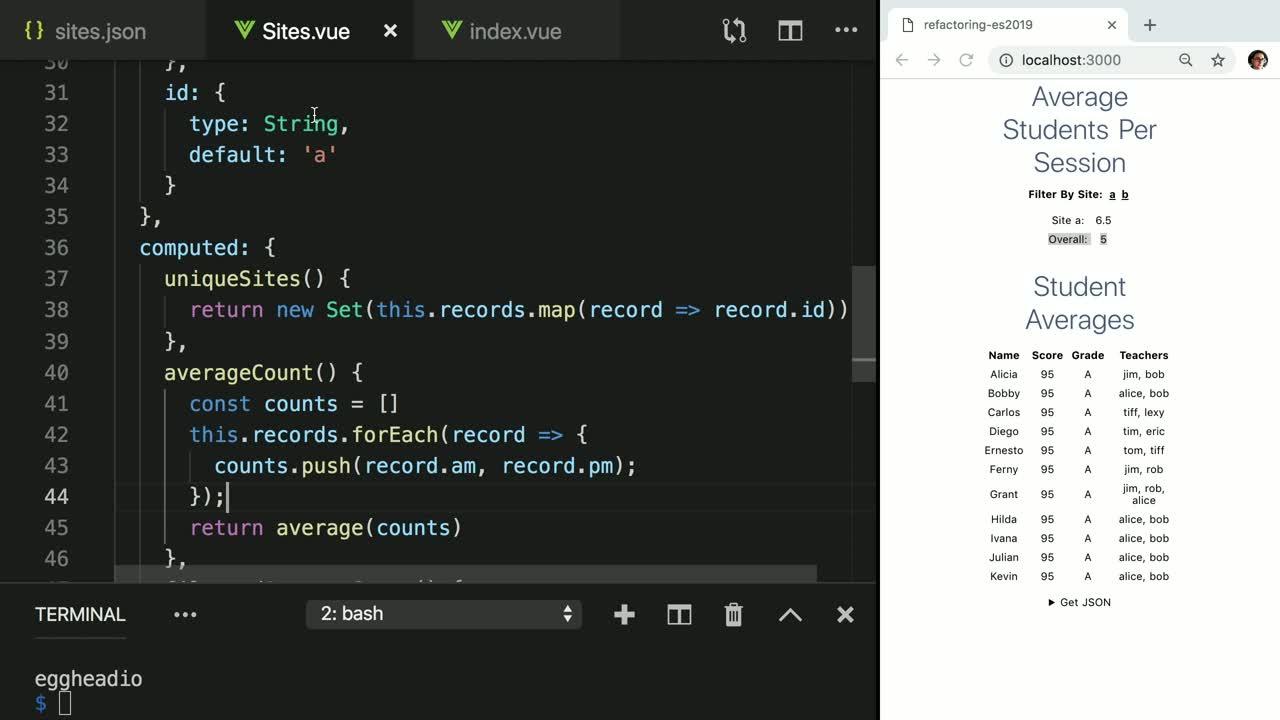 Beaches] Javascript map return object array