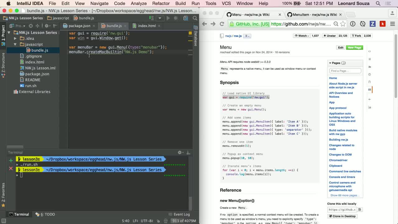 js tutorial about NW.js Basics: Overview of DevTools, Menu and MenuItems