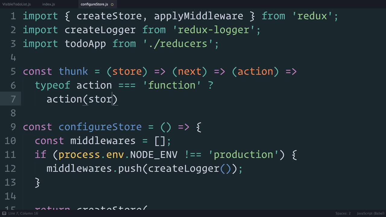 redux tutorial about Redux: Dispatching Actions Asynchronously with Thunks