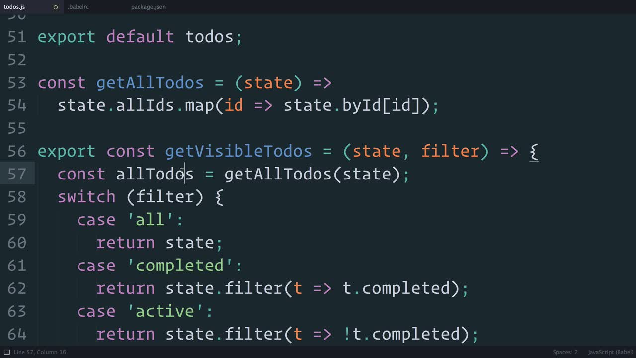 react tutorial about Redux: Normalizing the State Shape