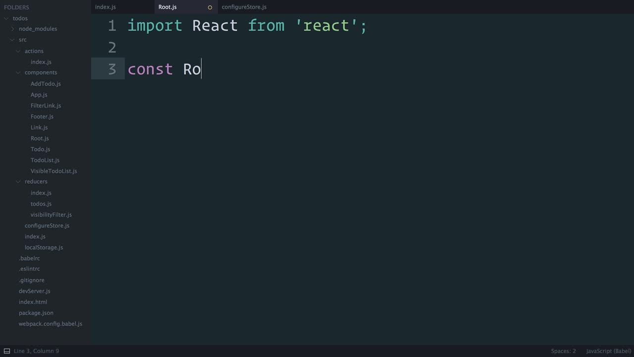 react tutorial about Redux: Refactoring the Entry Point