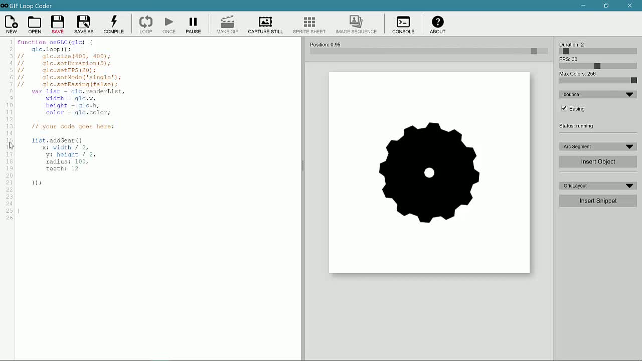 javascript tutorial about Shape Objects in GIF Loop Coder