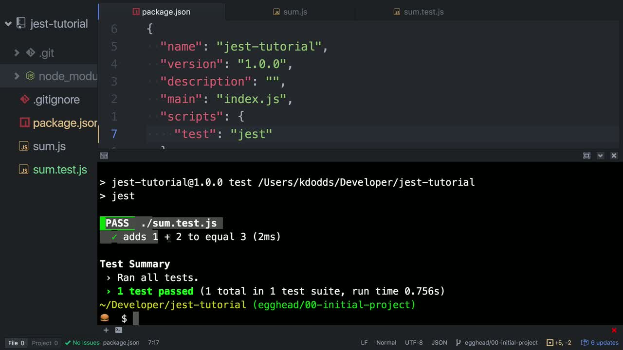 jest tutorial about Test JavaScript with Jest