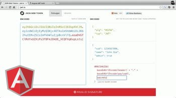 angularjs tutorial about JSON Web Token (JWT) Introduction