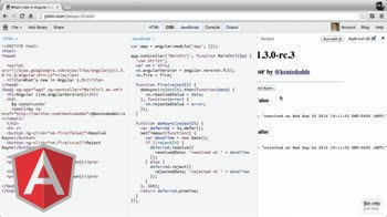 angularjs tutorial about New in Angular 1.3 - $q constructor