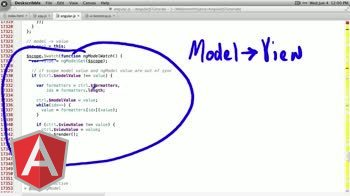angularjs tutorial about ngModelController: viewValue-modelValue relationship