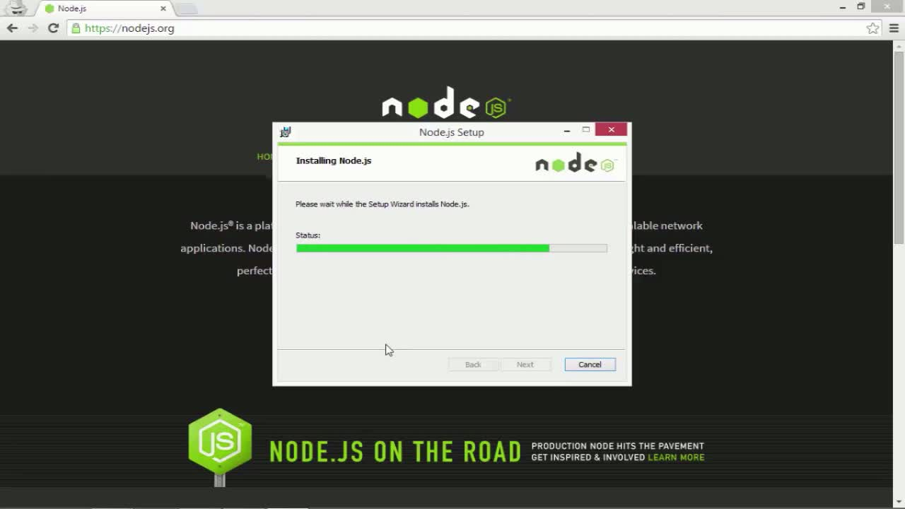angularjs tutorial about Installing Node.js and NPM on Windows