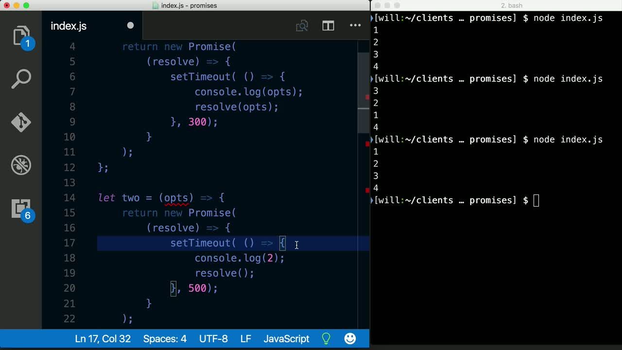 node tutorial about Use ES6 style Promises with Node.js