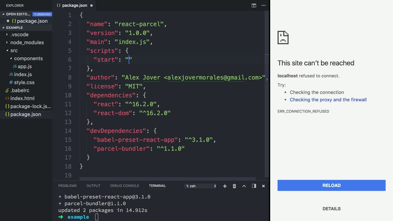 Bundle a React App with Parcel from @alexjoverm on @eggheadio