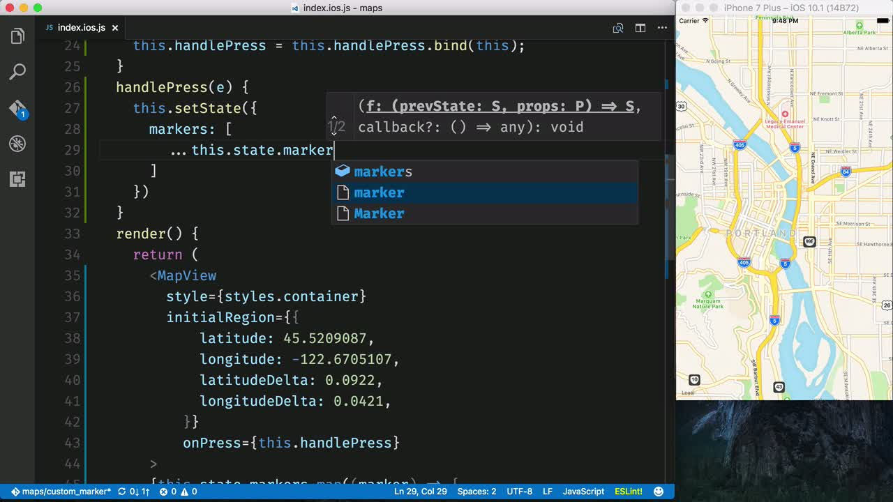 AngularJS tutorial about Create a Custom Map Marker with React Native Maps
