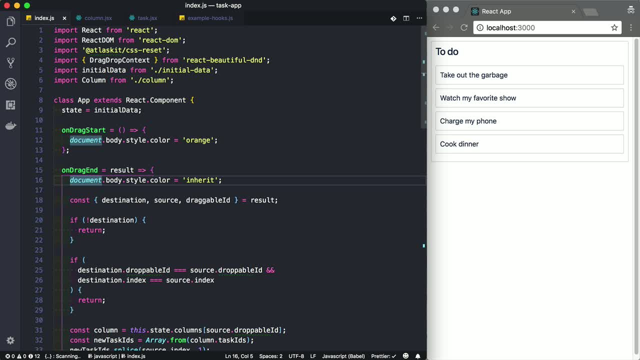 Beautiful and Accessible Drag and Drop with react-beautiful-dnd from