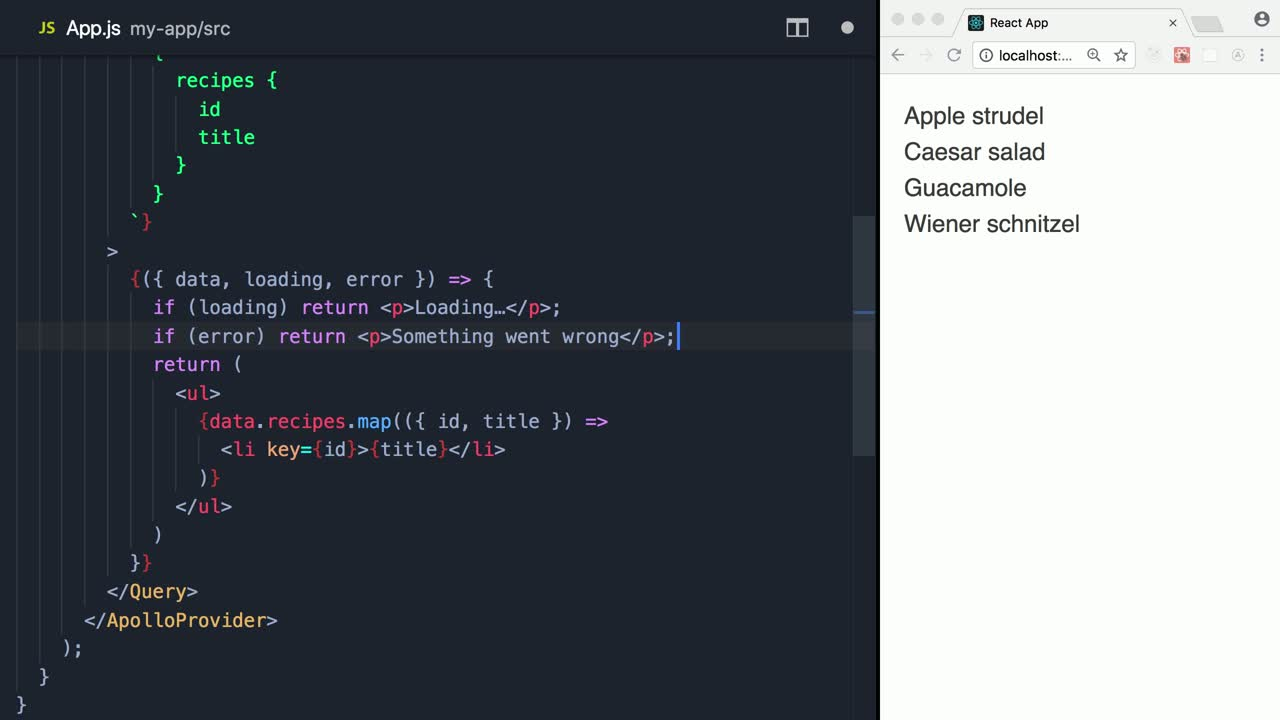 GraphQL Data in React with Apollo Client from @nikgraf on