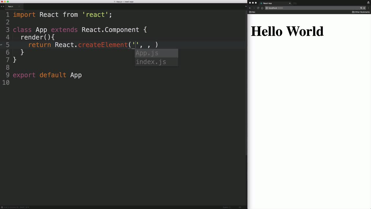 "AngularJS tutorial about Write a ""Hello World"" React Component"
