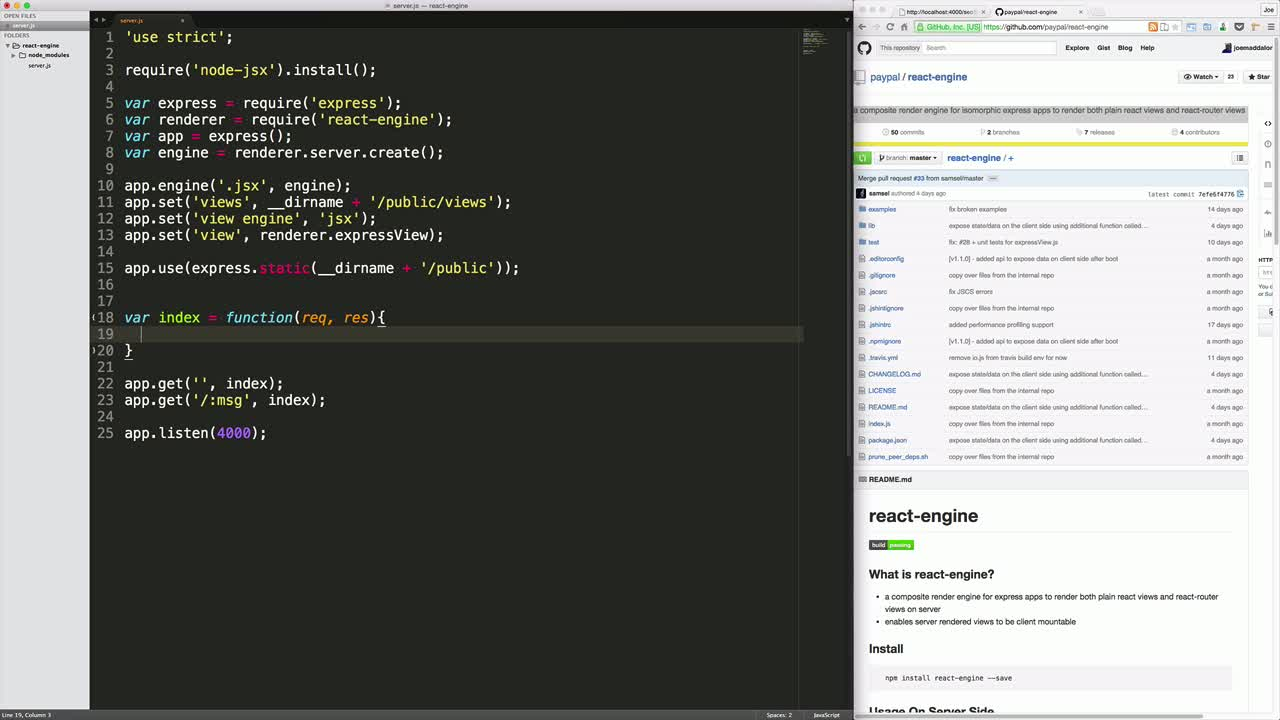Use JSX as an Express templating engine with react-engine from ...