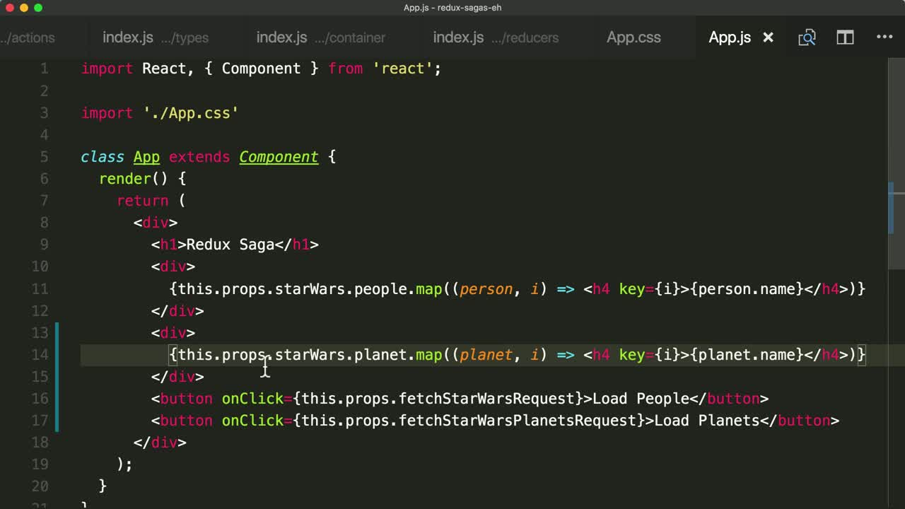 redux tutorial about Run Sagas Concurrently with Saga Helpers
