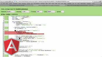 angularjs tutorial about Refactoring: Unit Test Coverage Report Setup