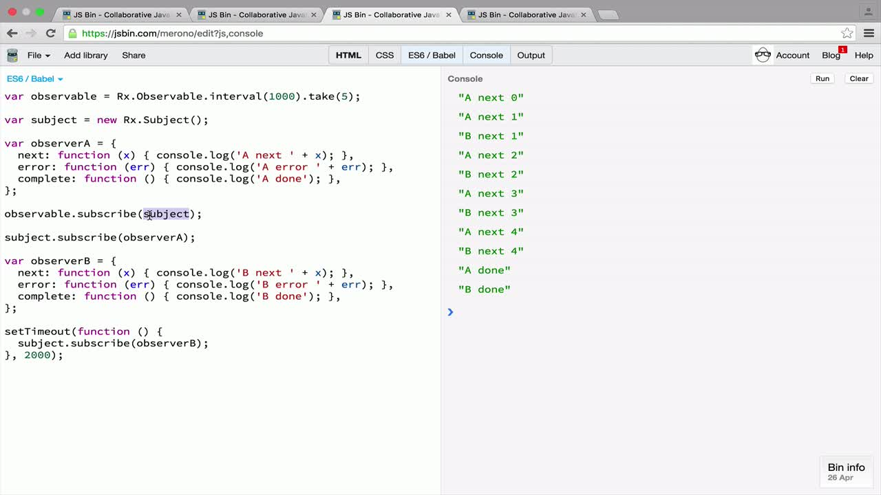 AngularJS tutorial about Conclusion: when to use Subjects