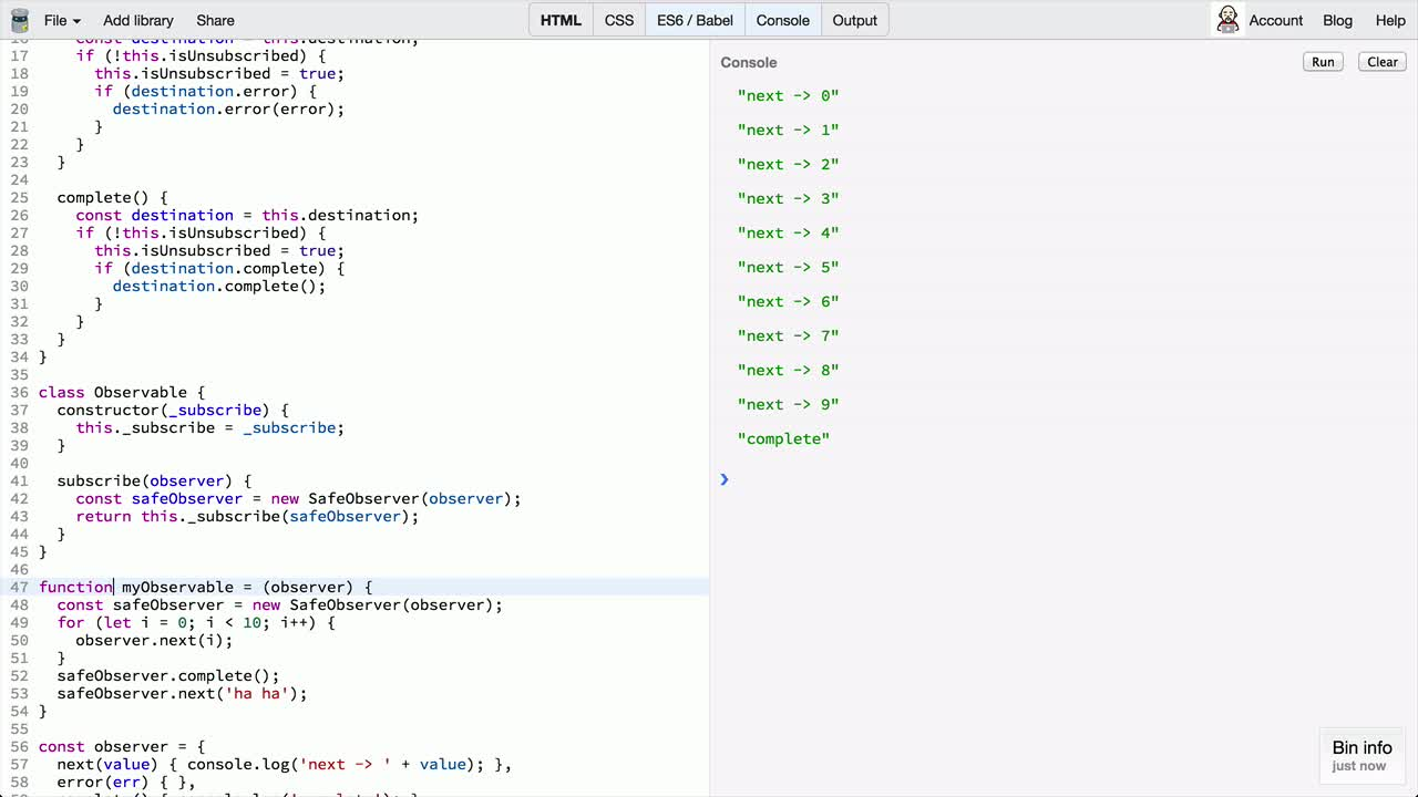 AngularJS tutorial about Creating Observable From Scratch