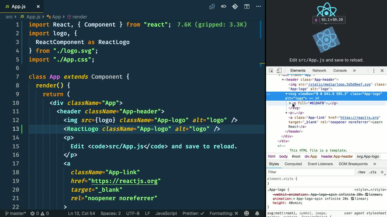 Add SVGs as React Components with Create React App 2 0 from