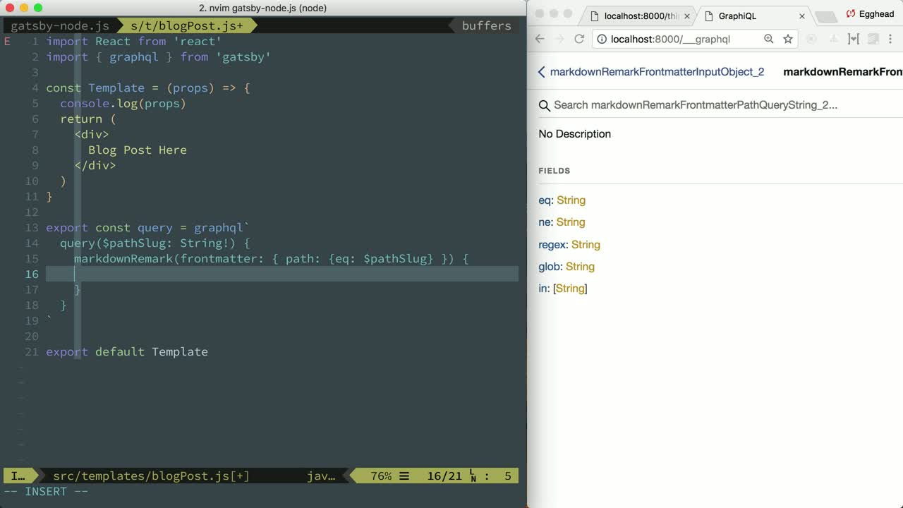 Build a Blog with React and Markdown using Gatsby from @taylorbell