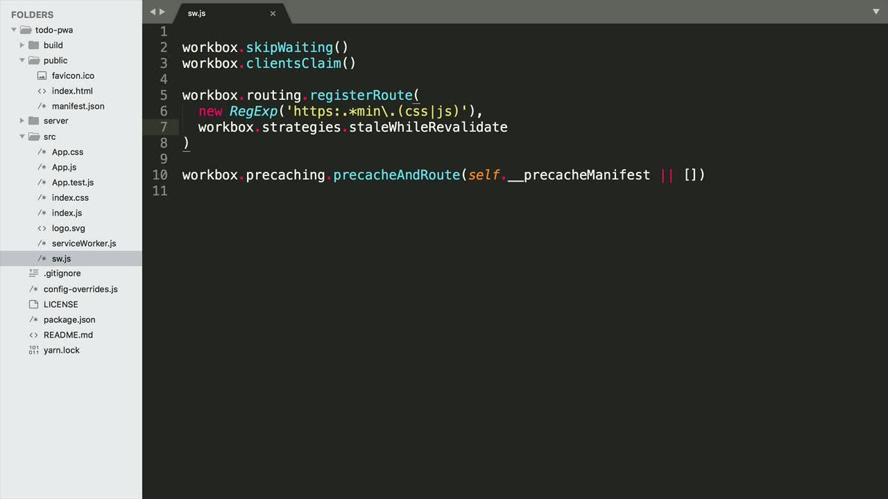 Progressive Web Apps in React with create-react-app from