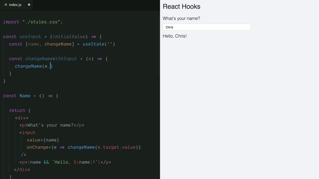 Create a Custom Hook in React by Wrapping useState from