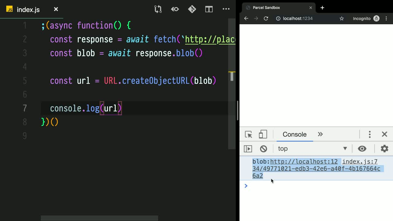Create an Image with JavaScript Using Fetch and URL