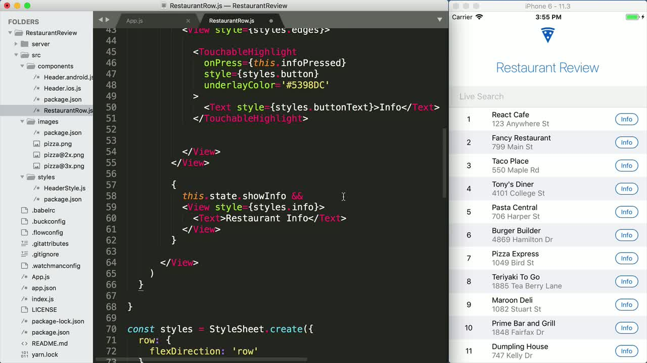 Build a React Native Application for iOS and Android from
