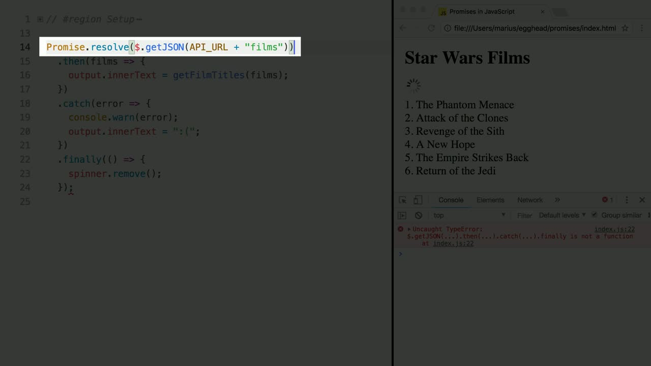 JavaScript Promises in Depth from @mariusschulz on @eggheadio