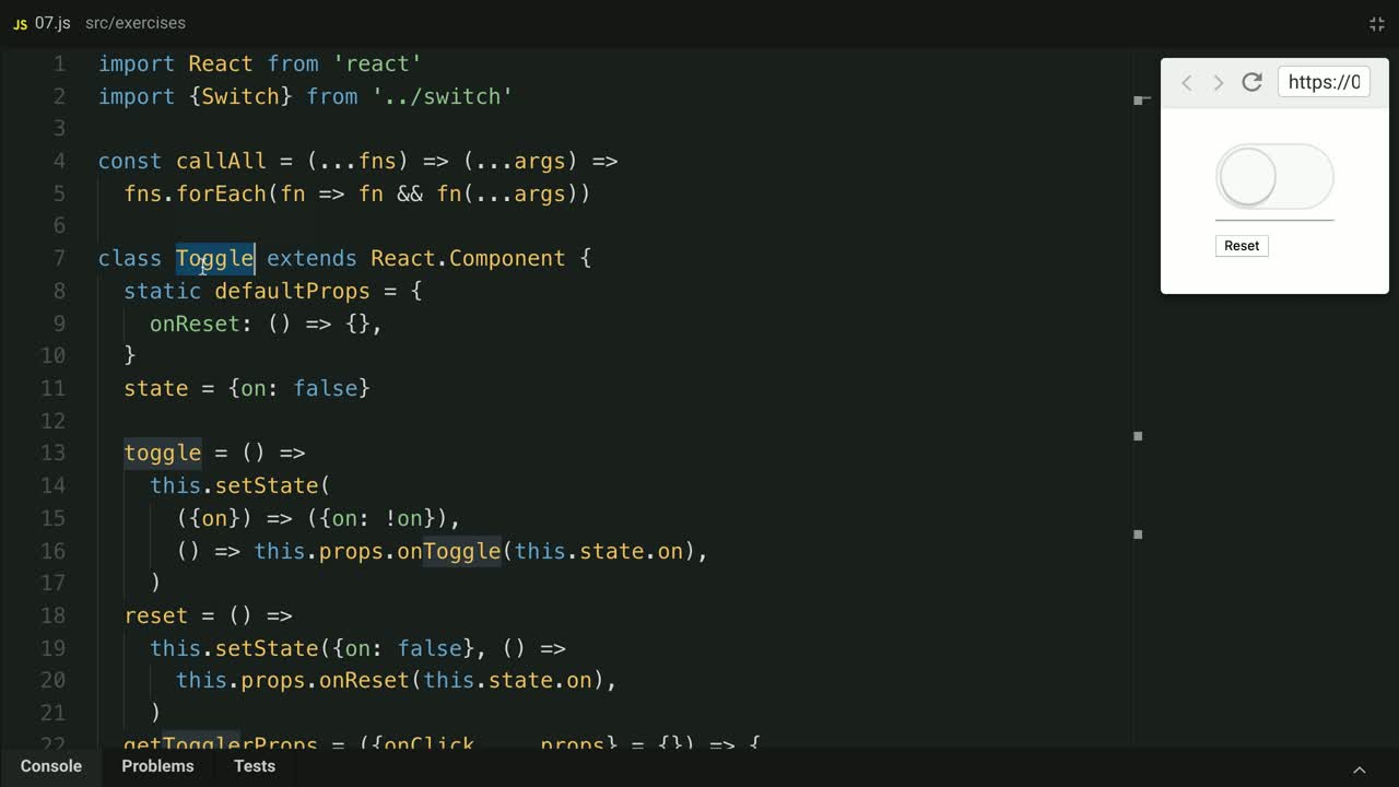 react tutorial about Use Component State Initializers