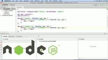 AngularJS tutorial about Select by ID with Mongoose and Express