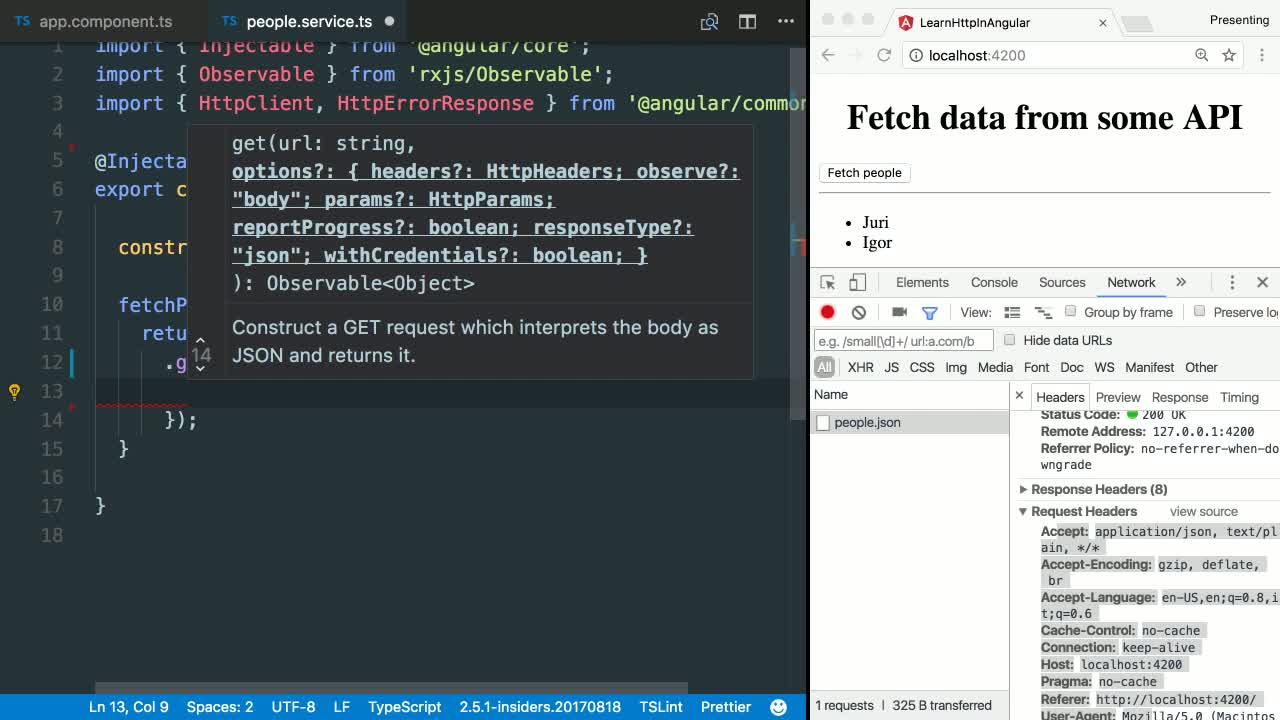 angular tutorial about Set Metadata in HTTP Headers with Angular HttpHeaders