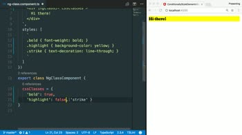angular tutorial about Style HTML elements in Angular using ngClass