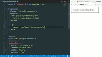 angular tutorial about Style HTML elements in Angular using ngStyle