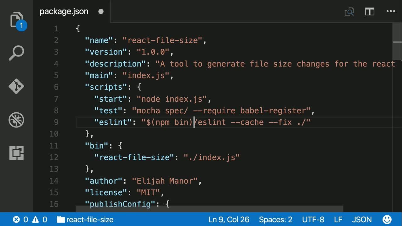 npm tutorial about Create a custom npm script