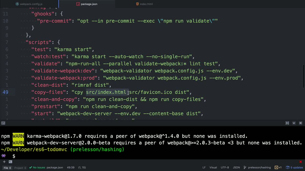 AngularJS tutorial about Hashing with Webpack for long term caching
