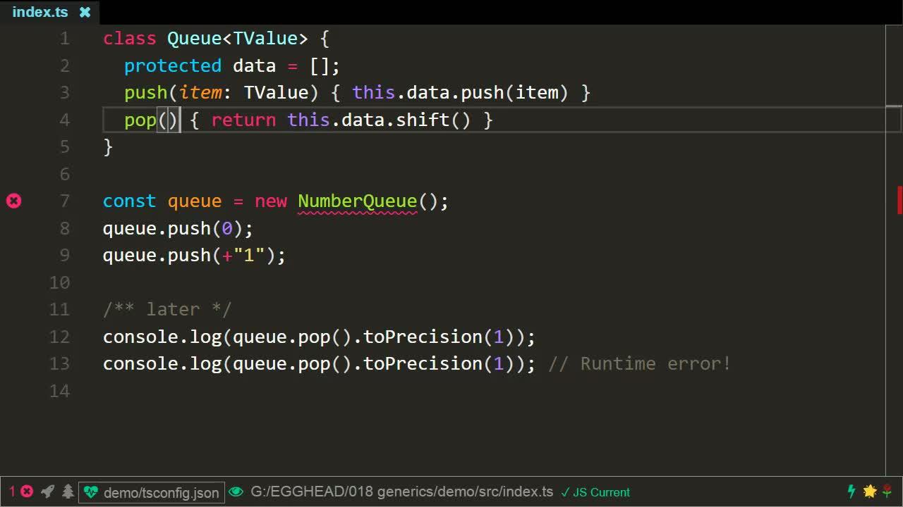 typescript tutorial about Generics using TypeScript