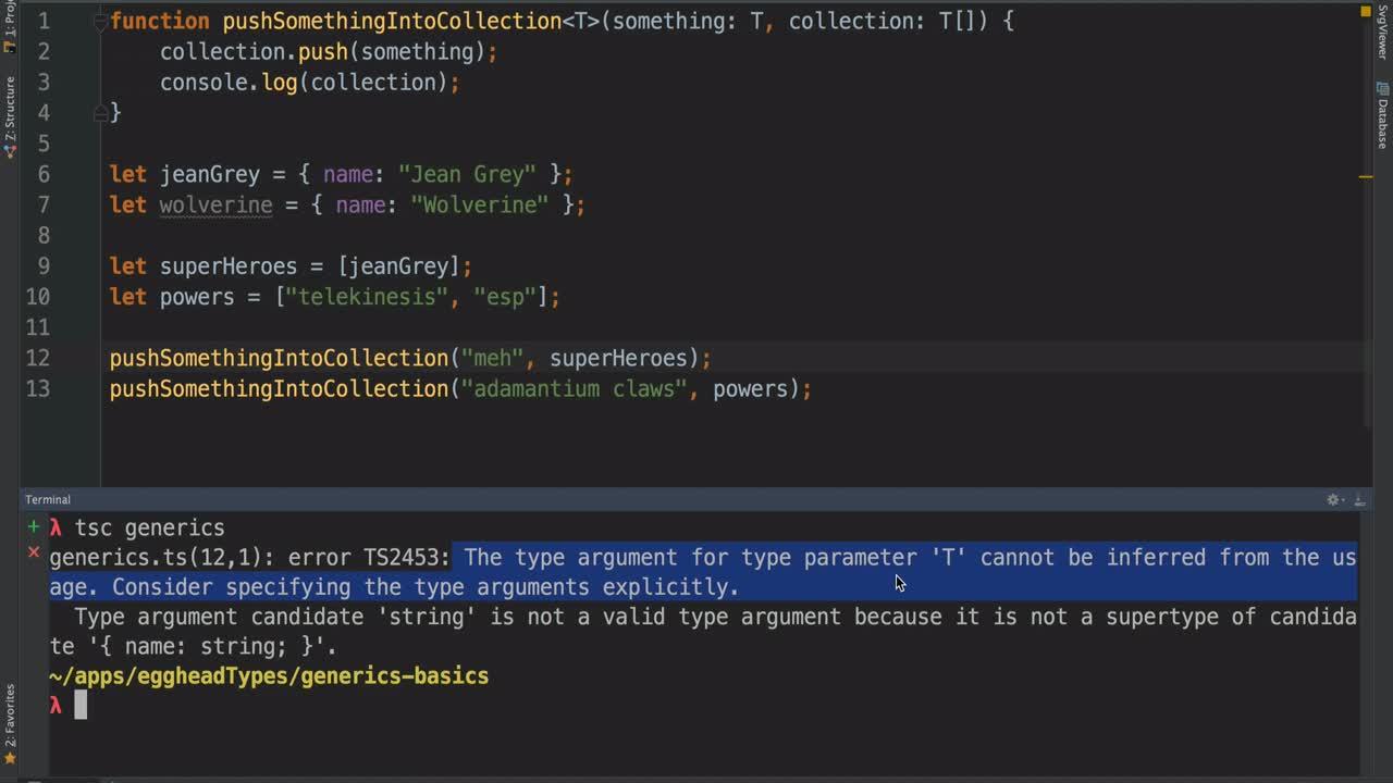typescript tutorial about The Basics of Generics in TypeScript