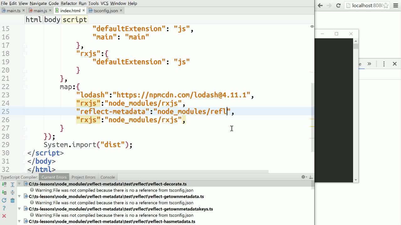 AngularJS tutorial about TypeScript - Reflection and Decorator Metadata