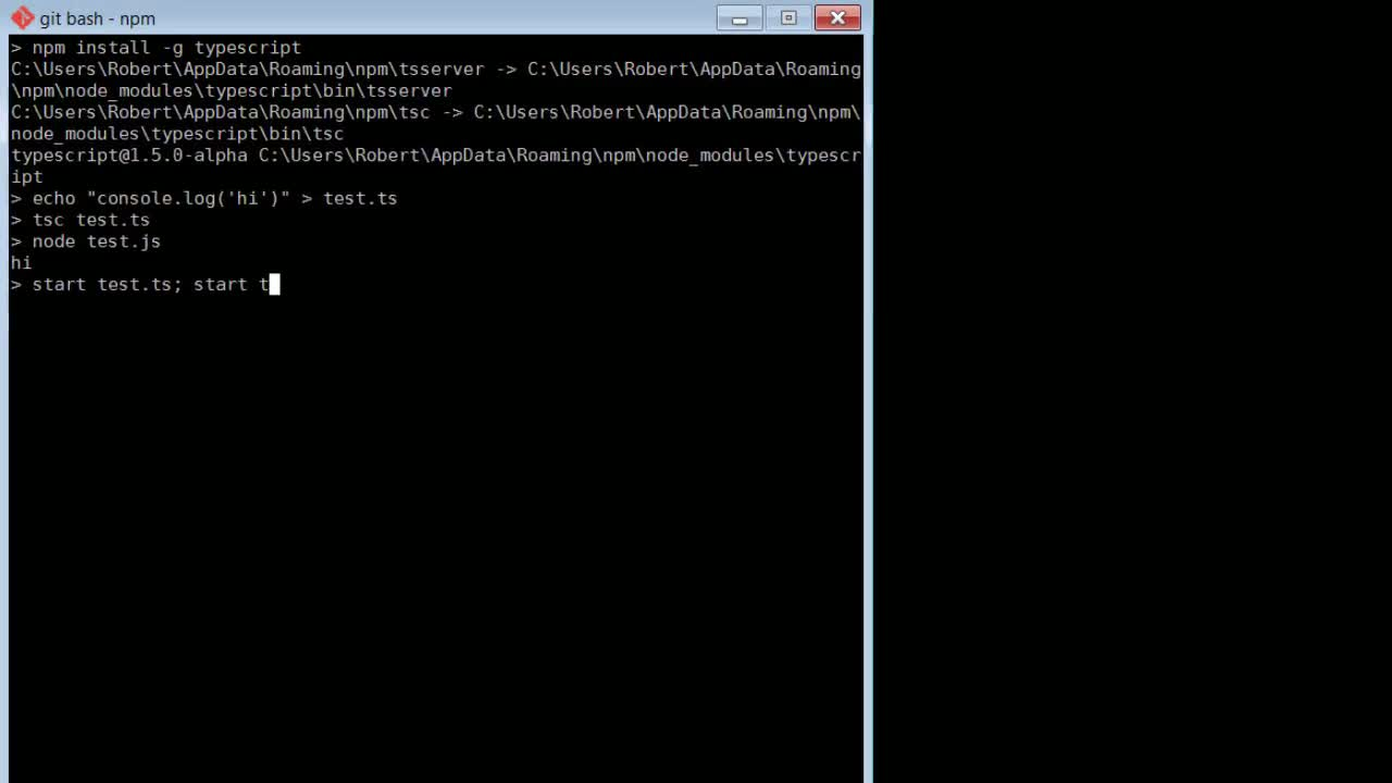AngularJS tutorial about TypeScript Up and Running in Seconds
