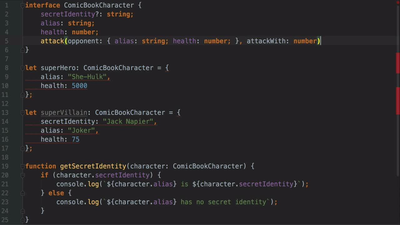 AngularJS tutorial about Using Interfaces to Describe Types in TypeScript