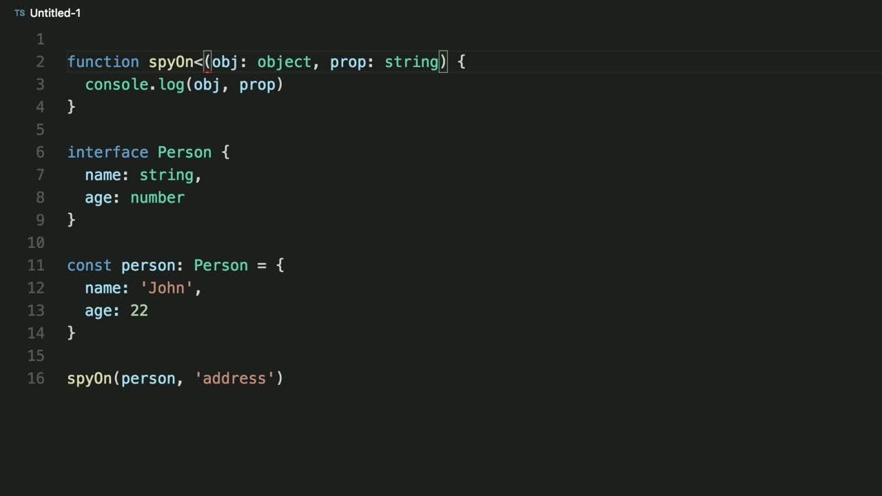 typescript tutorial about Understand lookup types in TypeScript
