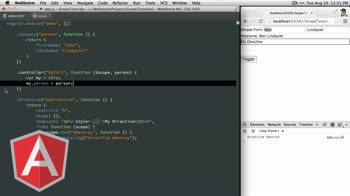 angularjs tutorial about Using the Angular scope $destroy event and method.