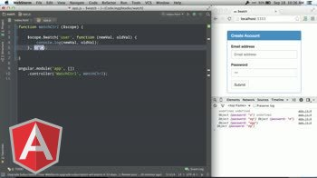 angularjs tutorial about Using the AngularJS scope's $watchCollection method
