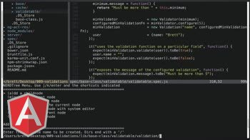 angularjs tutorial about Validations Class