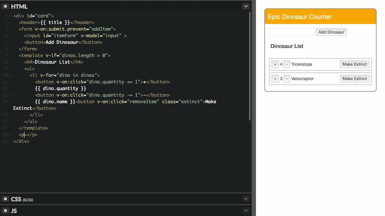 AngularJS tutorial about Conditionally Render DOM Elements in Vue.js