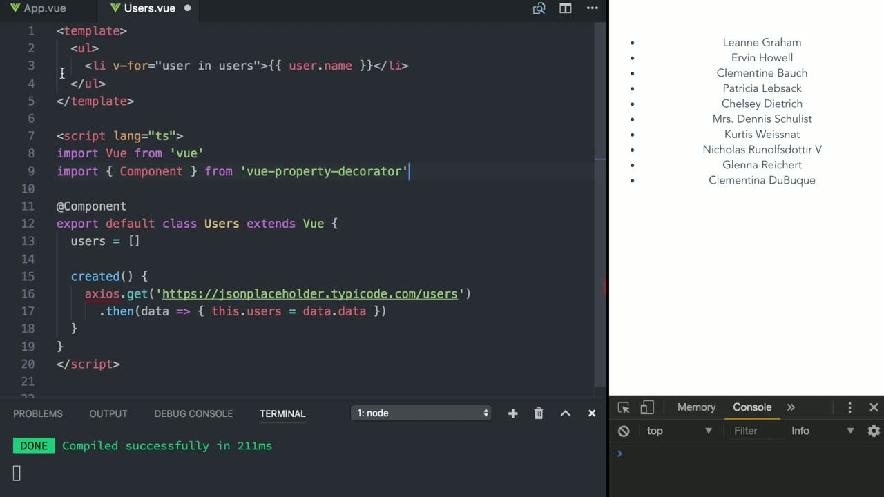 vue tutorial about Use Dependency Injection in Vue Using @Inject and @Provide Decorators with TypeScript