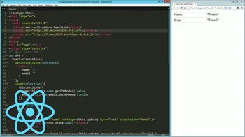 AngularJS tutorial about with-addons: ReactLink